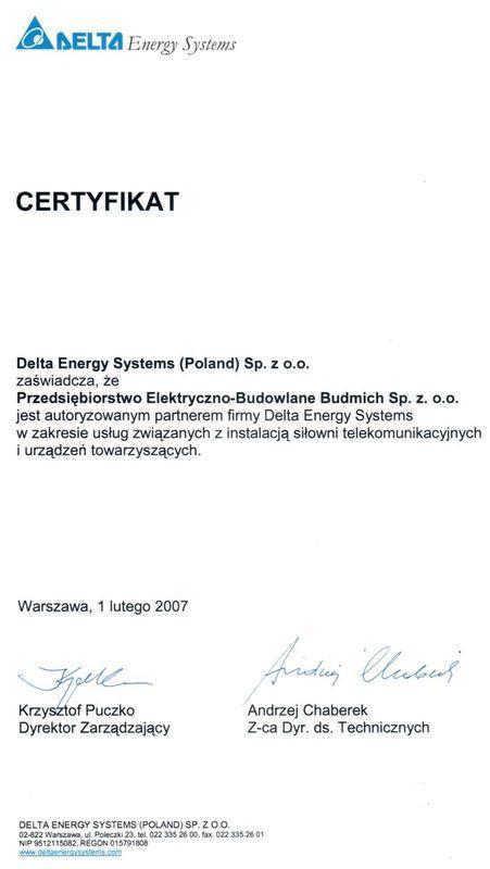 certyfikat delta